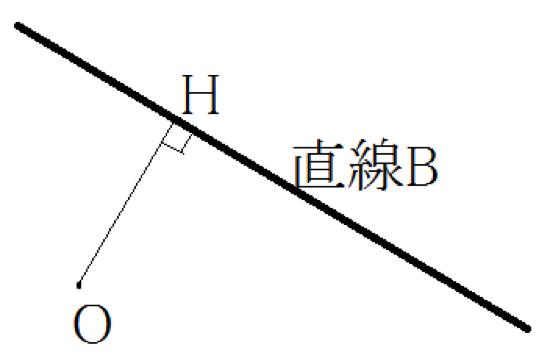 原点と直線の距離の求め方