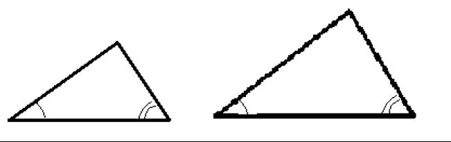 2つ組の角がそれぞれ等しい